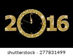 new year clock  | Shutterstock .eps vector #277831499
