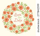 save the date invitation with... | Shutterstock .eps vector #277842599