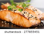 Grilled Salmon  Sesame Seeds ...