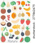 food collection   fruit   Shutterstock .eps vector #277862675