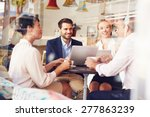 business meeting in a cafe | Shutterstock . vector #277863239