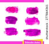 hand painted pink vector... | Shutterstock .eps vector #277864361