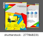 flyer brochure magazine cover... | Shutterstock .eps vector #277868231