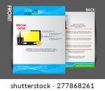 flyer brochure magazine cover... | Shutterstock .eps vector #277868261
