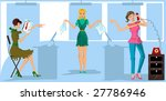 one more version of girls in...   Shutterstock . vector #27786946
