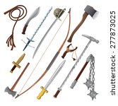 set of different weapons.... | Shutterstock .eps vector #277873025