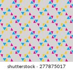 vivid pink  blue and yellow...   Shutterstock .eps vector #277875017