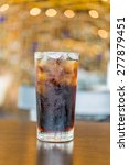 cola glass on bokeh background | Shutterstock . vector #277879451