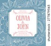 wedding invitation card. vector ... | Shutterstock .eps vector #277879565