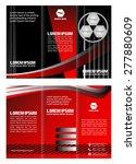 tri fold business brochure... | Shutterstock .eps vector #277880609
