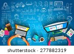 infographic teamwork and... | Shutterstock . vector #277882319