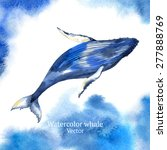 vector watercolor whale | Shutterstock .eps vector #277888769