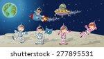 astronaut cartoon characters on ...   Shutterstock .eps vector #277895531