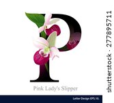 Letter P Vector Alphabet With...