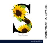 letter s vector alphabet with... | Shutterstock .eps vector #277895801