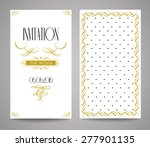 vector gold ornate frame and... | Shutterstock .eps vector #277901135