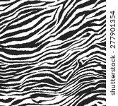 seamless zebra. vector pattern... | Shutterstock .eps vector #277901354