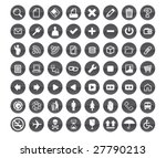 gray color icons design | Shutterstock .eps vector #27790213
