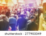 blurred crowd of people on... | Shutterstock . vector #277903349