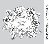 elegant romantic wedding... | Shutterstock .eps vector #277903871