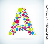 modern letter a circle colorful ... | Shutterstock .eps vector #277906691