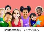diversity children friendship... | Shutterstock . vector #277906877