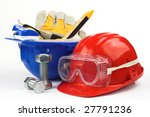 safety gear kit close up | Shutterstock . vector #27791236