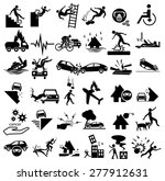 accident icons set for... | Shutterstock .eps vector #277912631