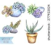 vector watercolor illustration  ... | Shutterstock .eps vector #277922024
