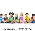 children kids happiness... | Shutterstock . vector #277922204