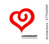 red heart   vector logo...