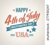 retro typography card... | Shutterstock .eps vector #277930247