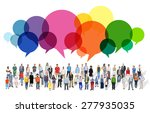 casual people message talking... | Shutterstock . vector #277935035