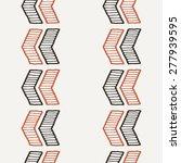 vector seamless texture of hand ... | Shutterstock .eps vector #277939595
