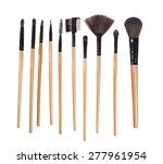 make up brush  white background ... | Shutterstock . vector #277961954