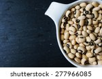 Dried Black Eyed Beans On The...