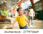kid in the museum. look at... | Shutterstock . vector #277973669