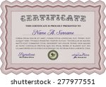 diploma template. sophisticated ... | Shutterstock .eps vector #277977551