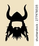 Face Symbol Of An Ancient Viking