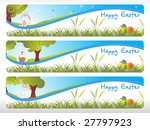 abstract garden pattern easter... | Shutterstock .eps vector #27797923