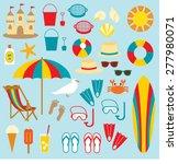 beach clip art   Shutterstock .eps vector #277980071