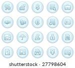 finance web icons  light blue... | Shutterstock .eps vector #27798604