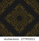 amaryllis floral  seamless thai ... | Shutterstock .eps vector #277992011