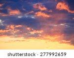 Beautiful Sunset Behind Orange...