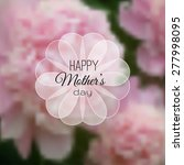 happy mothers day card on...   Shutterstock .eps vector #277998095