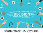vector decision concept template | Shutterstock .eps vector #277998101