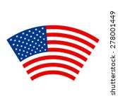 american flag vector icon | Shutterstock .eps vector #278001449