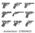 Gun Icons  Handgun  Pistol Set