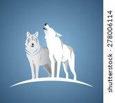 geometric wolfs | Shutterstock .eps vector #278006114