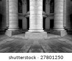 Columns of an old building, architecture - stock photo